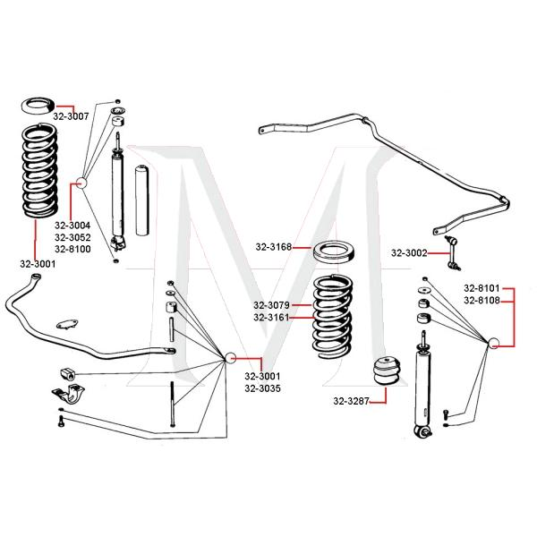 COIL SPRING SEAT - FRONT