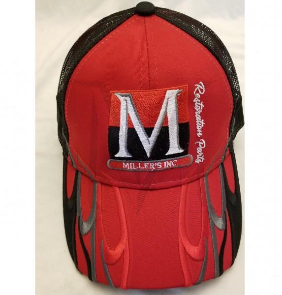 Millers Inc Hat, Red/Black
